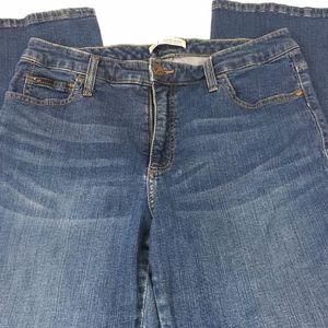Slender Secret Lower Waist Straight Leg Jeans